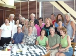 July 2011 Class Brunch at Navy Pier. Back row: Doug Swanson, Jim Crofton, Bob Carrier, Bob Presnak, Nancy Bixby Mieling,